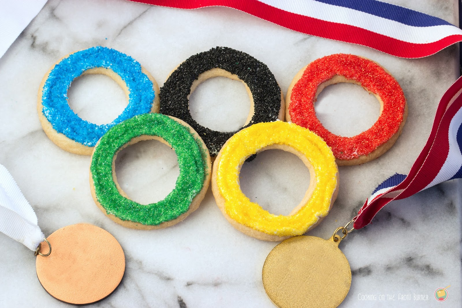 Olympic Sugar Cookies | Cooking on the Front Burner #olympiccookies #pillsbury
