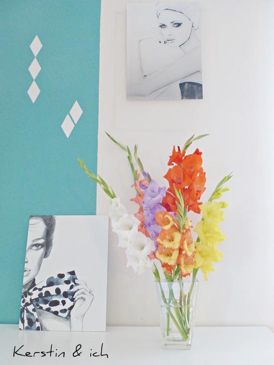 Deko Interiorstyling mit Gladiolen 1