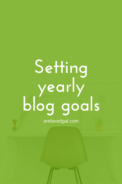 Setting yearly goals for my blog | arelaxedgal.com
