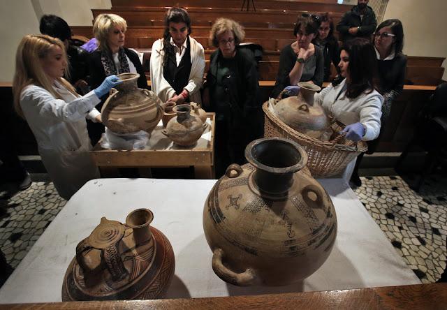 Επαναπατρίζονται στην Ελλάδα 26 αρχαία αντικείμενα