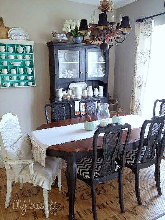 Fall Dining Room ~ keeping it simple www.diybeautify.com
