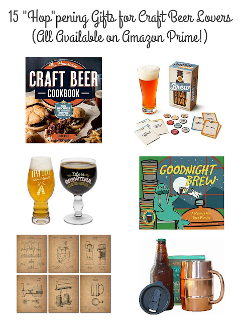 "Whether you have a craft beer lover, a home brewer, or a self-proclaimed beer snob on your gift list, they will be sure to appreciate these 15 ""Hop""pening Gifts for Craft Beer Lovers."