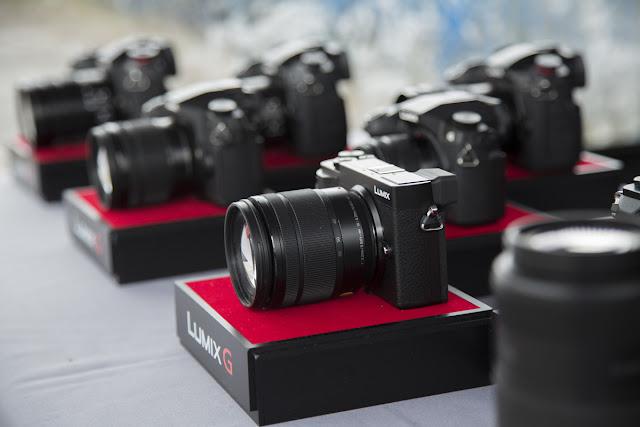 An array of Panasonic digital cameras, representing choice of camera