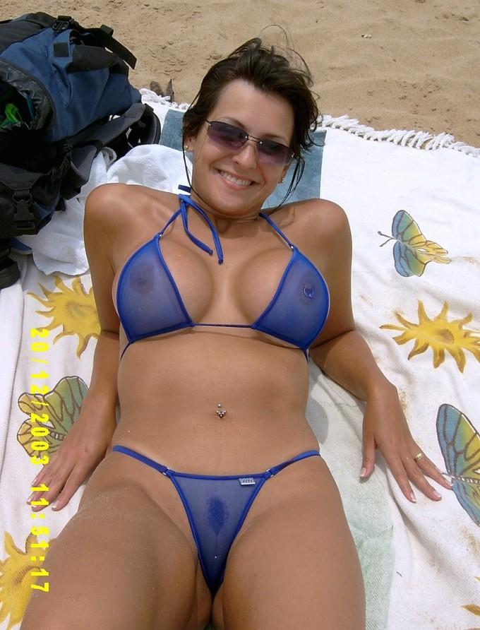 Necessary Milf in sheer bikini join. And