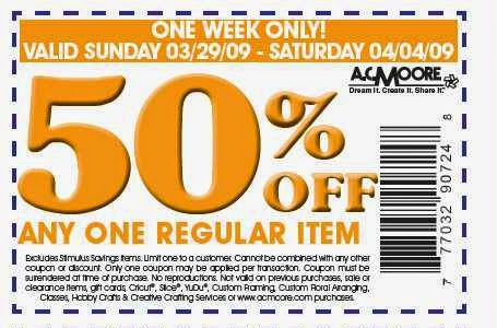 image about Ac Moore Printable Coupon Blogspot identify Ac moore coupon codes blogspot / Knight discount codes