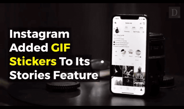 A new Instagram feature lets you add animated GIF stickers to your Story