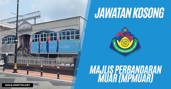 jawatan kosong Majlis Perbandaran Muar (MPMuar) 2018