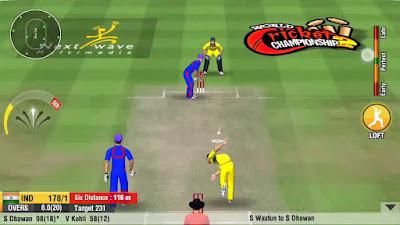 لعبة  World Cricket Championship 2 مكركة، لعبة World Cricket Championship 2 مود فري شوبينغ