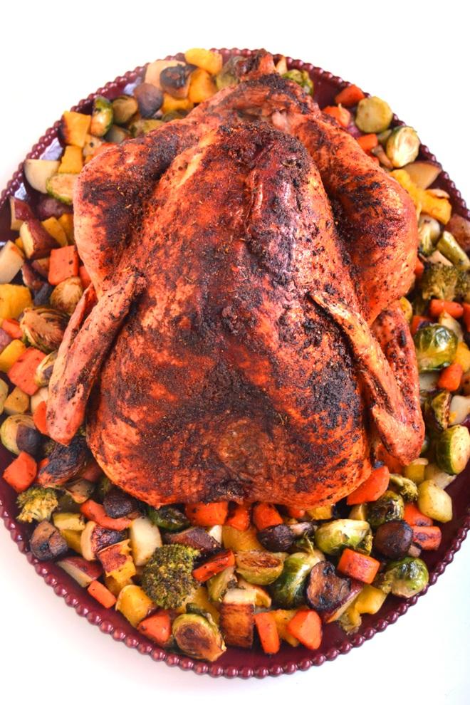 Cajun Turkey with Roasted Vegetables | The Nutritionist