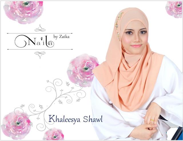 Na'ila Shawl By Zaika  Khaleesya Shawl