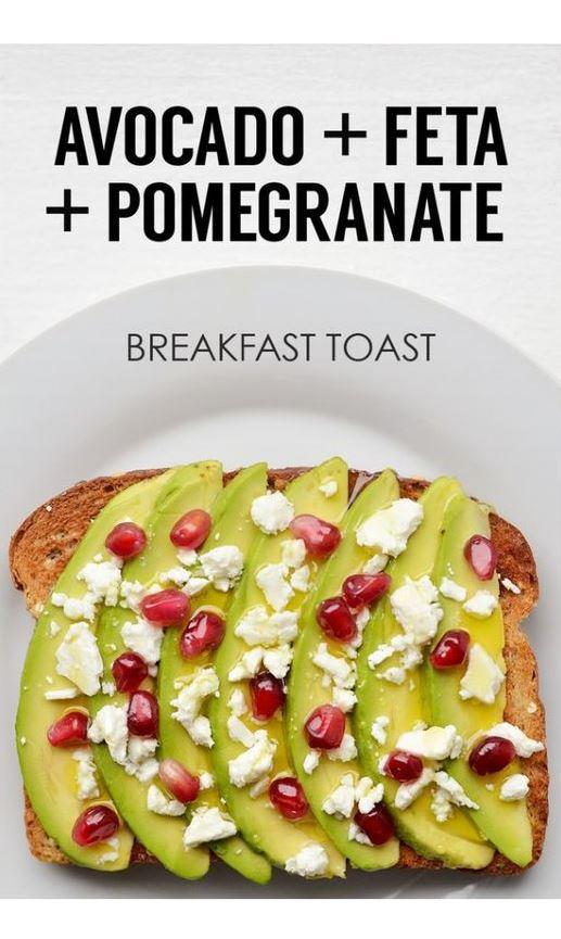 Avocado + Feta + Pomegranate