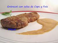 Entrecot con salsa de Ceps y Foie