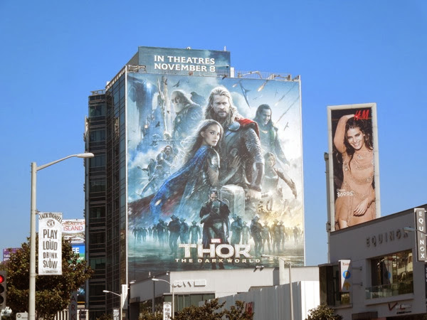 Giant Thor The Dark World movie billboard