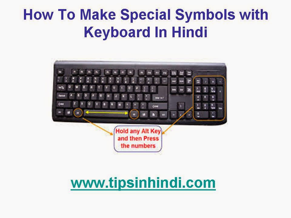 How To Make Special Symbols with Keyboard In Hindi