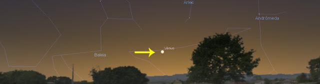 Vênus e Urano em conjunção - 28 de março