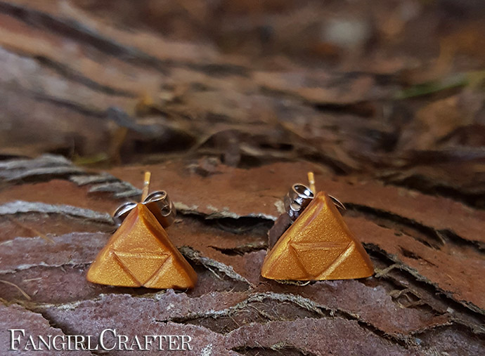 Polymer Clay Triforce Earrings
