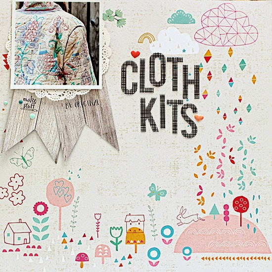 PinkFresh layout Clothkits