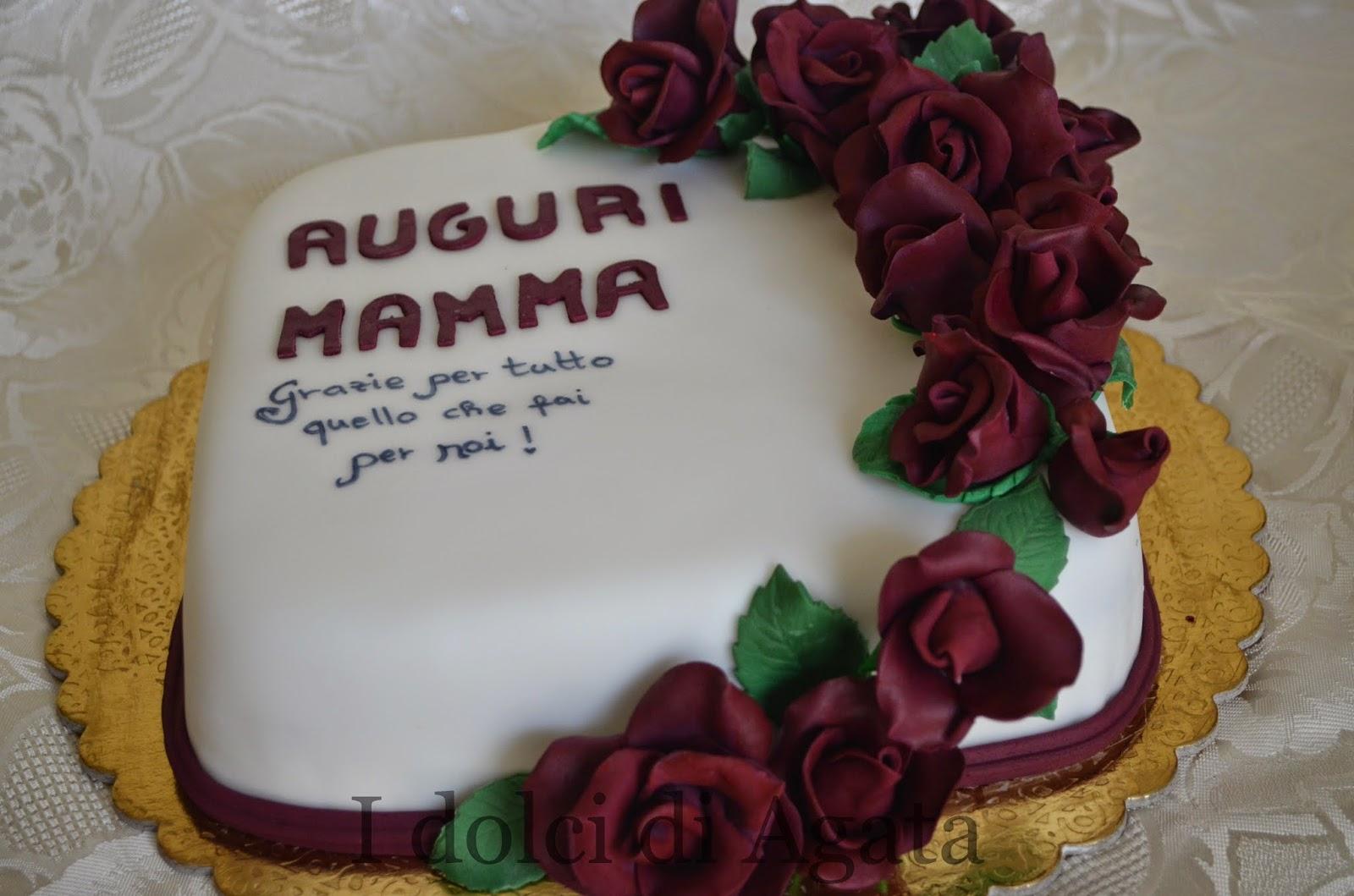 Molto I dolci di Agata e non solo !!!: Torta mamma con cascata di rose GU59