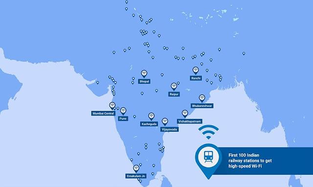 100 Lokasi Stasiun Kereta Pertama Di India Yang Mendapatkan WiFi Super Cepat Dari Google