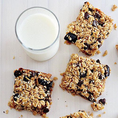 Chewy oat squares snack