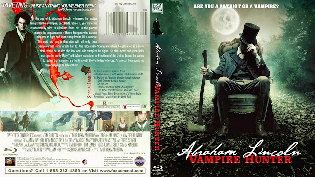Abraham Lincoln: Vampire Hunter Bluray Cover