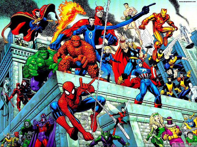 Los héroes y villanos de Marvel