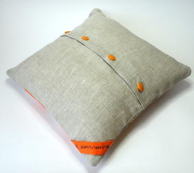 подушка Лис аппликация