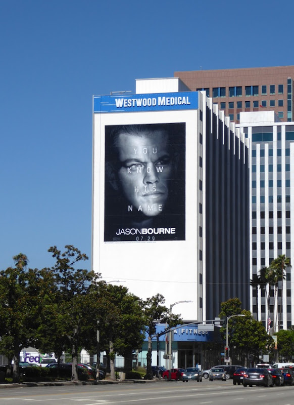 Giant Jason Bourne film billboard