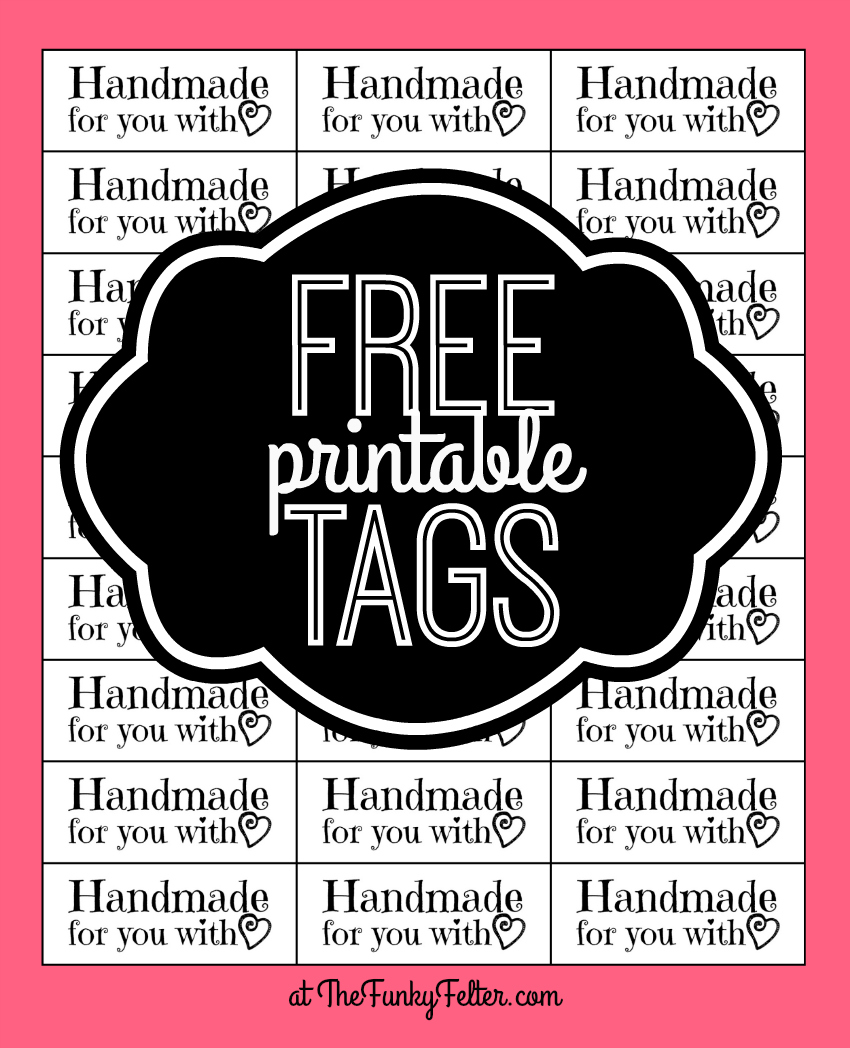 the funky felter free printable handmade for you with love craft tags