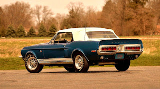1968 Ford Mustang Shelby GT500KR Convertible Rear Left
