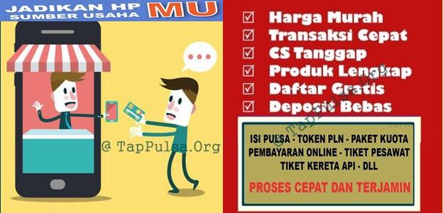Tap Pulsa Bisnis Agen Pulsa Elektrik Online Termurah