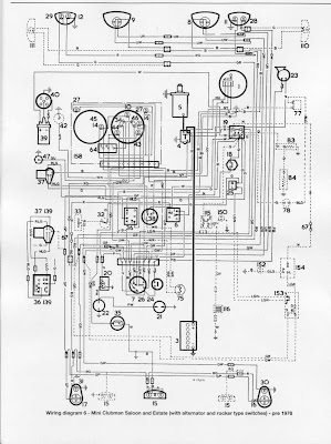 mini clubman saloon and estate 1976 electrical wiring diagram rh diagramonwiring blogspot com Mini Cooper Radio Wiring Diagram 2010 Mini Cooper Fuse Diagram