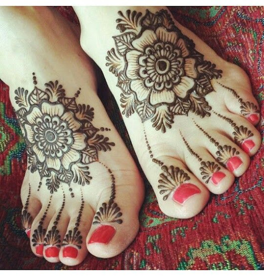 50+ Easy Foot Mehndi Designs for 2018