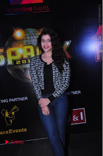 Actress Mannara Chopra Stills in Jeans at Sparx 2017 Curtain Raiser Event  0176.JPG