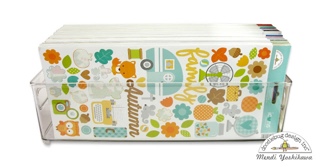 How to Organize Your Doodlebug Stickers by Mendi Yoshikawa