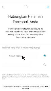 instagram bisnis dan halaman facebook