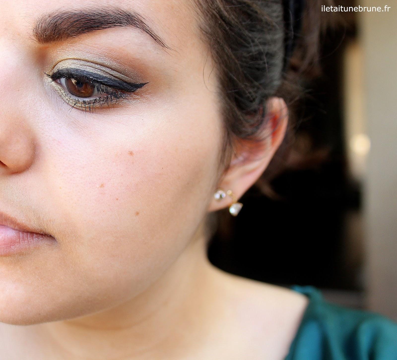 maquillage de soirée kaki