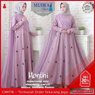 Jual RRJ013D175 Dress Monthy Maxy Wanita Sk Terbaru Trendy BMGShop