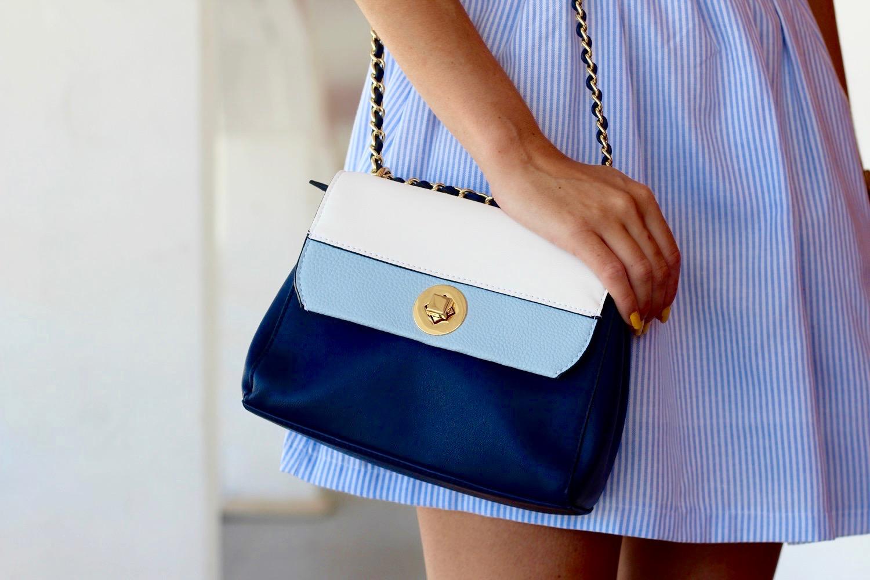 bolso tonos azules