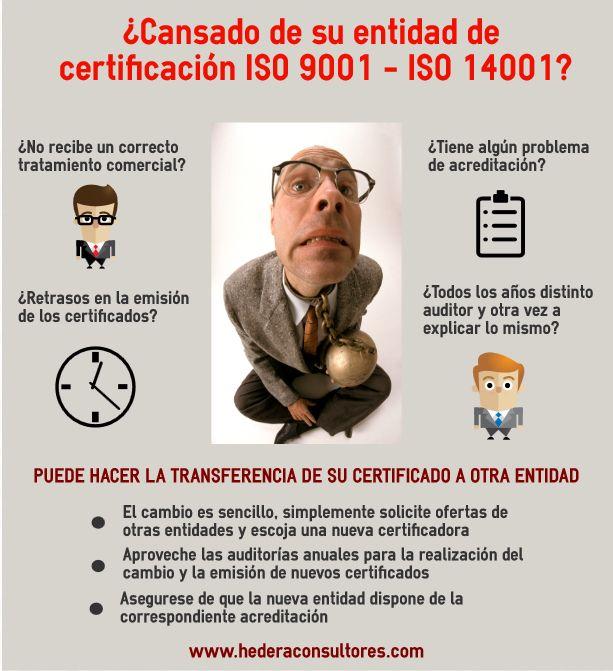 Transferencia de certificado ISO 9000 - ISO 14000