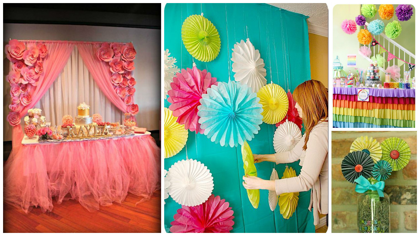 12 ideas fabulosas que te ayudaran a decorar tu fiesta con for Decoracion papeles