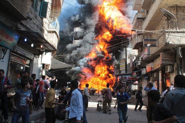 warga Aleppo suriah dibantai syiah counter attack bela presiden Assad