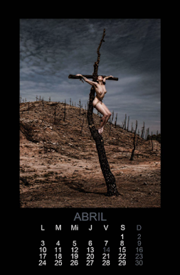 mujeres crucificadas crucified women calendario tentesion 2017