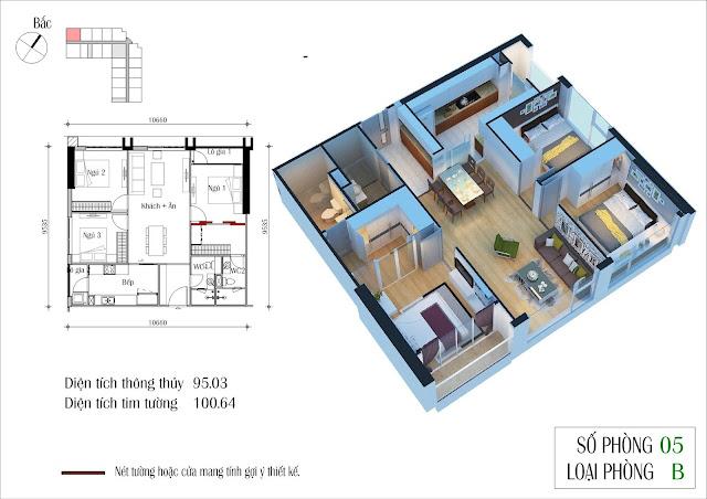 Thiết kế căn 05 tòa CT2 Eco Green City