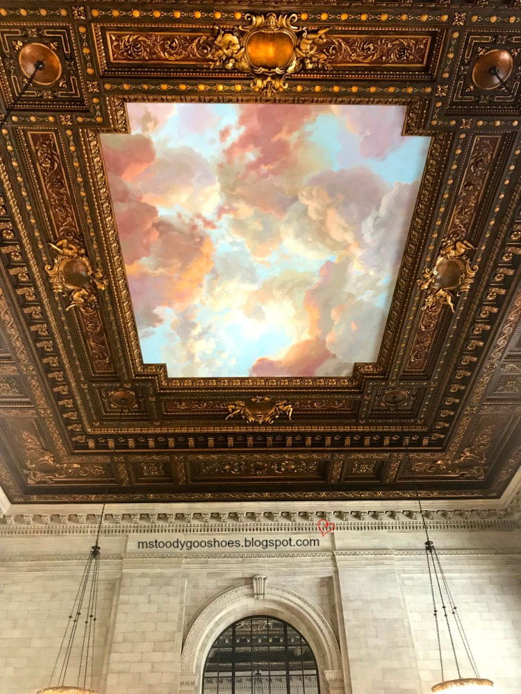 The interior of  the New York City Public Library is magnificent! | Ms. Toody Goo Shoes