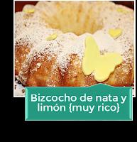 BIZCOCHO DE NATA Y LIMÓN {MUY RICO}
