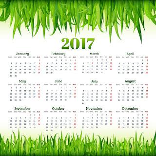 2017カレンダー無料テンプレート79