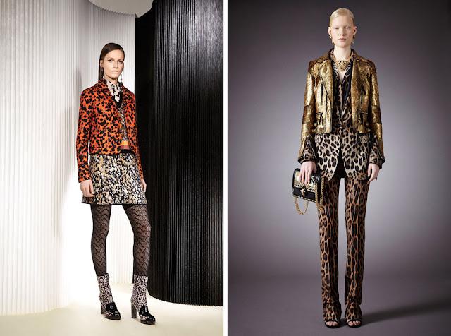 Леопардовая юбка с леопардовым жакетом