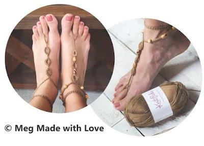 Sandalias PIES DESCALZOS a crochet para el verano