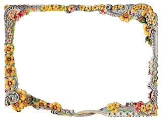 flower frame border image scrapbooking clipart